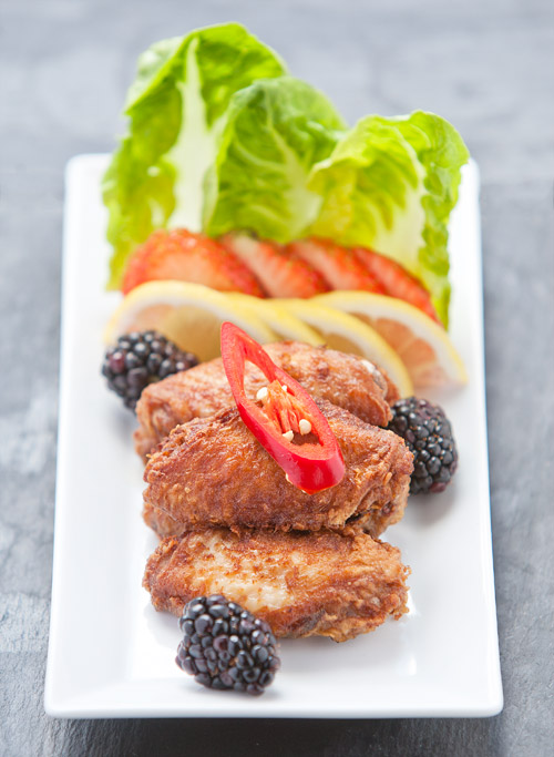 chinese style deep fried chicken wings