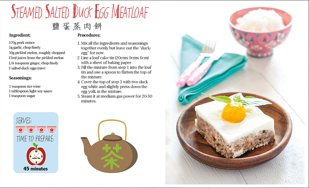 Steamed Salted Duck Egg Meatloaf
