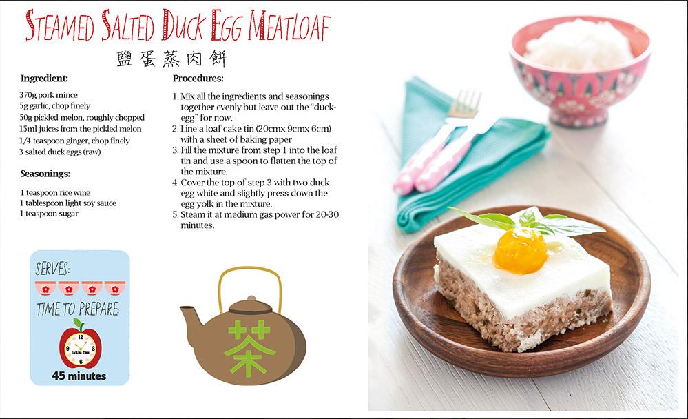 Steamed Salted Duck Egg Meatloaf