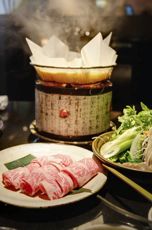Kobe beef miso hot pot